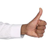 Hand giving a thumbs-up