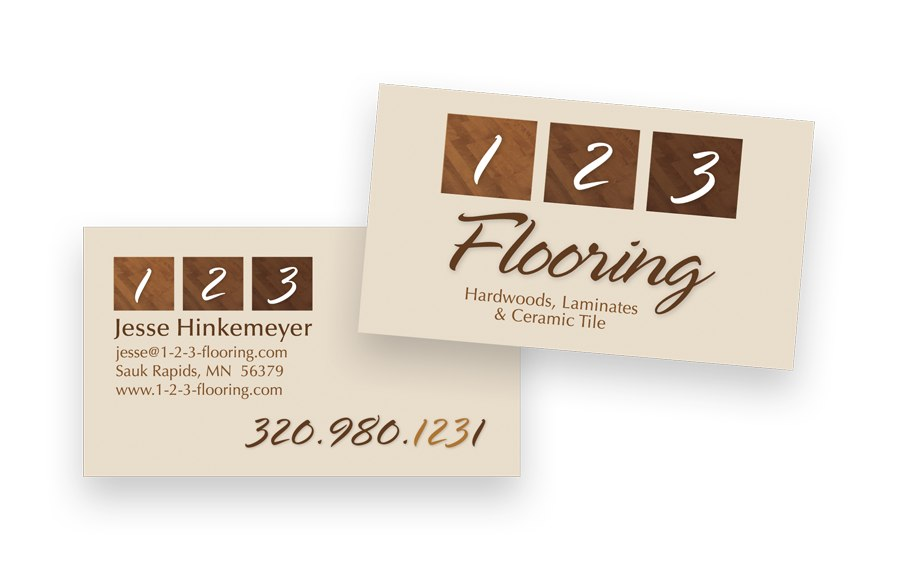 business card thumbnail for 123 flooring - Flooring Business Cards