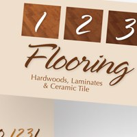 Business card for 123 Flooring