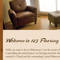 Website thumbnail for 123 Flooring