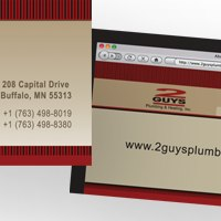 Webcard for 2 Guys Plumbing & Heating