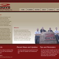 Website homepage thumbnail for 2 Guys Plumbing & Heating