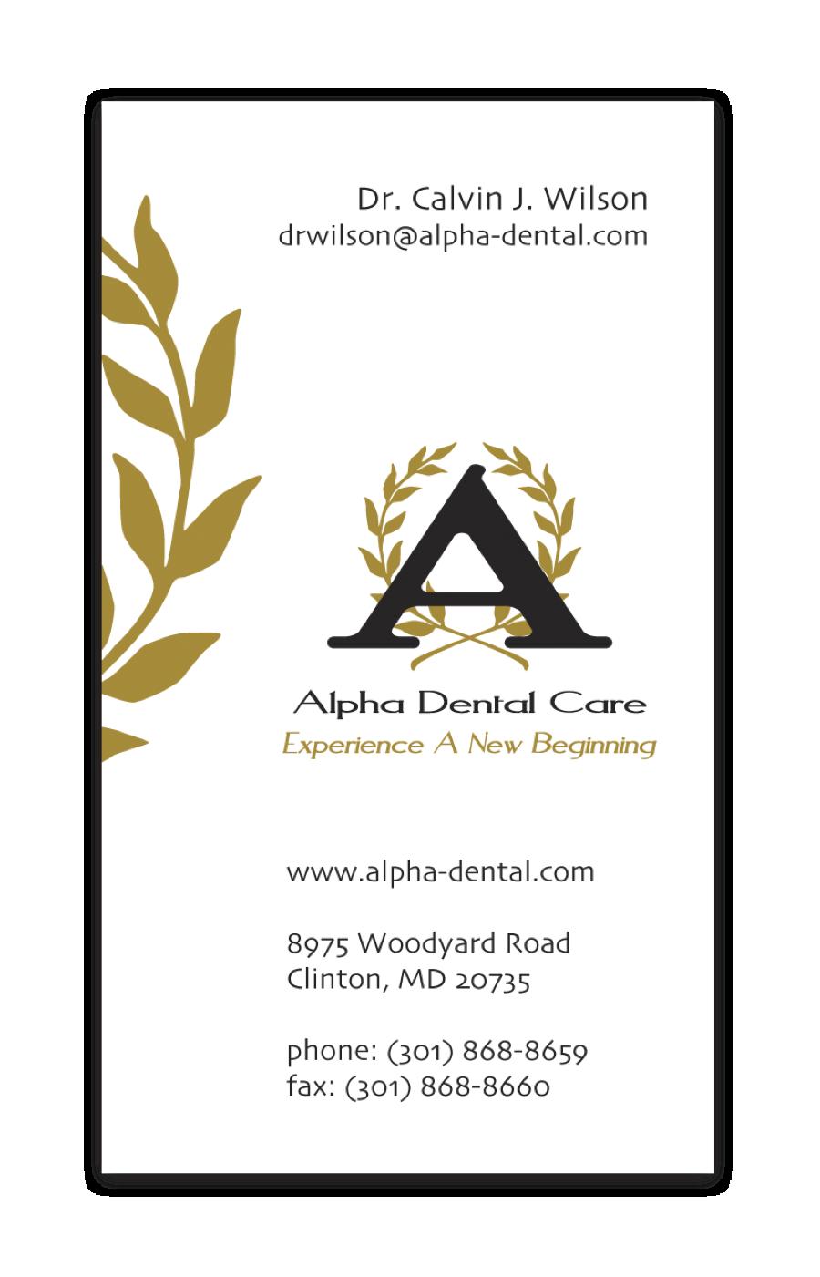 Alpha commercial business cards gallery business card template alpha dental care business card thumbnail for alpha dental care colourmoves colourmoves
