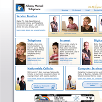 Website homepage thumbnail for Albany Mutual Telephone