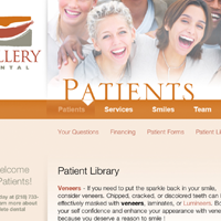 Website for Gallery Dental Duluth