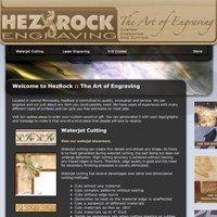 Website for Hezrock Engraving