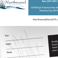 Appointment card thumbnail for Northwood Cosmetic Dental Group