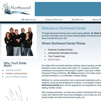 Website homepage thumbnail for Northwood Cosmetic Dental Group